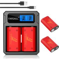 Xbox One Batteries, FARSAIL 4-Pack Xbox One Rechargeable Controller Battery with LCD Display Xbox One Charger for Xbox One/Xbox One S/Xbox One X/Xbox One Elite Wireless Controller