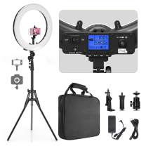 "Ring Light, Pixel 19"" Bi-Color LCD Display Ring Light with Stand, 55W 3000-5800K CRI≥97 Light Ring for Vlogging Selfie-Portrait Live Stream Video Photography Shooting"