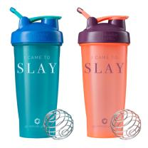 GOMOYO I Came to Slay on BlenderBottle Brand Shaker Bottle, Available in 20or 28 Ounces, Dishwasher Safe, Leak Proof, BlenderBall Included