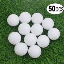 KOFULL Golf Practice Ball, Hollow Golf Plastic Ball for Indoor Training -Pack of 50pcs (5 Colors Available)(White,Yellow,Blue,Red,Multicolor)
