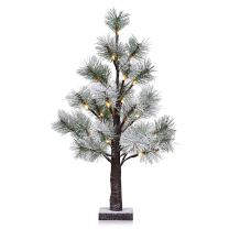 LightMe 32 LED 1.97 Feet Artificial Snow Christmas Pine Needle Tree Decorative Light for Indoor Christmas New Year Holiday Decor
