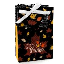 Big Dot of Happiness Give Thanks - Thanksgiving Party Favor Boxes - Set of 12