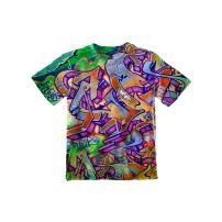 Yizzam NewWorldCo- Graffiti Green Street -Tagless- Kids Shirt