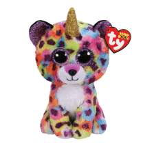 Claire's Medium Beanie Boo Official Ty Merchandise Soft Toy (Giselle The Unicorn Leopard)