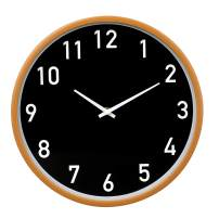 jomparis Silent Non Ticking Battery Operated Quartz Decorative Round Wall Clock Modern Simple Style for Office, Living Room,Kitchen (12 Inch Black)