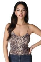 NIKIBIKI Women Seamless Leopard Cami Top, One Size