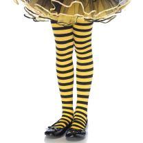 Leg Avenue's Children's Striped Tights, Black/Yellow, X-Large