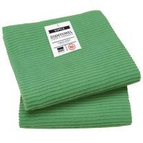 Now Designs Ripple Kitchen Towel, Set of 2, Verde Green