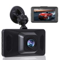 Dash Camera for Cars FHD 1080P Front Dash Cam with Night Vision 2 Mounts (7072H)