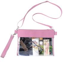 BAGAIL Clear Purse,Concert,NFL and PGA Stadium Approved Clear Crossbody Bag with Adjustable Strap