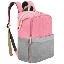 Diaper Bag Backpack, Canway Diaper Bag Travel Nappy baby Bag for Mom & Dad(Pink)