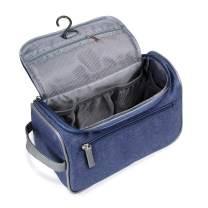 Travel Toiletry Bag Organizer, Jiemei Hanging Wash Bag Shaving Dopp Kit for Men Women (Blue)
