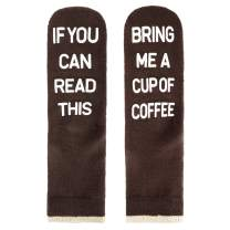 HAPPYPOP Unisex If You Can Read This Bring Me Tacos Coffee Wool for Gifts, Novelty Funny Anti slip Socks