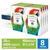 Hammermill Premium Color Copy 28lb Paper, 8.5x14, 8 Ream Case, 4,000 Sheets, Made in USA, Sustainably Sourced From American Family Tree Farms, 100 Bright, Acid Free, Color Copy Printer Paper, 102475