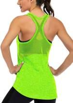 Fihapyli Workout Tank Tops for Women Sleeveless Yoga Tops for Women Mesh Back Tops Racerback Muscle Tank Tops
