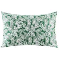 ZIMASILK 100% Mulberry Silk Pillowcase for Hair and Skin Health,Both Sides 19 Momme Silk Floral Print,1pc (Standard 20''x26'',Green Leaves)