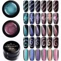 NICOLE DIARY 5ml Cat Eye Gel Nail Polish 5D Effect Magnetic Gel Varnish Soak Off UV Gel Magic Holographic Manicure Decoration Kit(6 bottles)