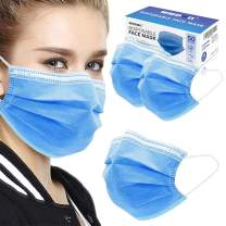 Disposable Face Masks 50Pack, WWDOLL 3-Ply Filter Protective Safety Face Masks for Protection