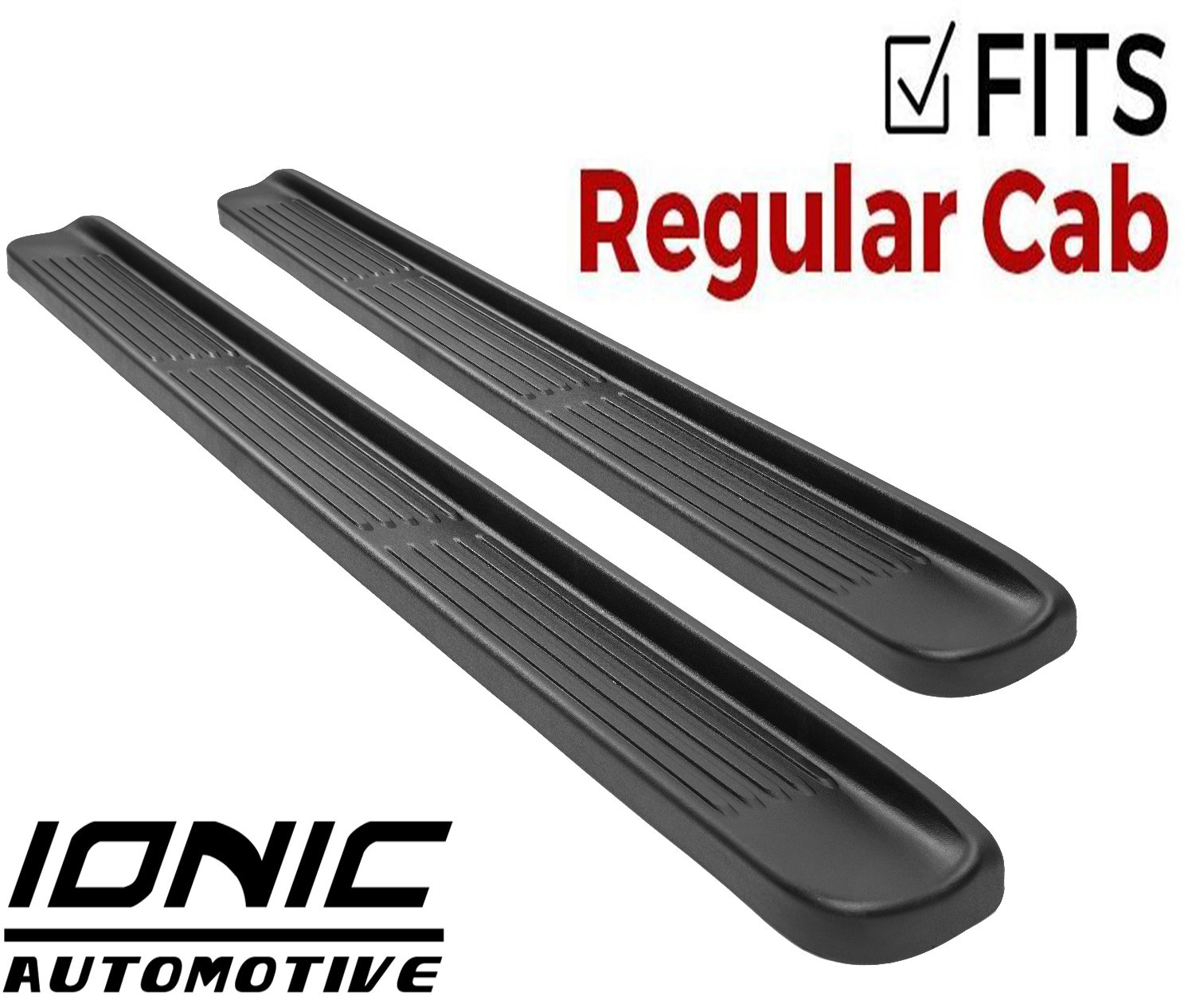 Ionic Factory Style Running Boards 2014-2018 Chevy Silverado GMC Sierra Regular Cab
