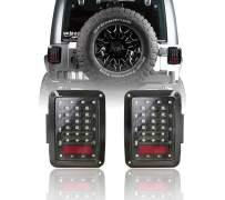 Hooke Road JK LED Tail Light Assemblies Clear Lens for 2007-2018 Jeep JK Wrangler & Unlimited