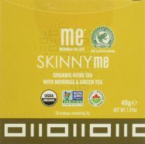 ME Moringa Skinny Me Organic Herb Tea Pyramid Sachets with Moringa & Green Tea, USDA Organic Certified, Non-GMO Verified, 20Count