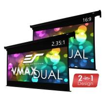 "Elite Screens VMAX Dual, 100"" 16:9/95"" 2.35:1, Dual Format Wall/Ceiling Motorized Cinema Projector Screen, VMAX100H95C"