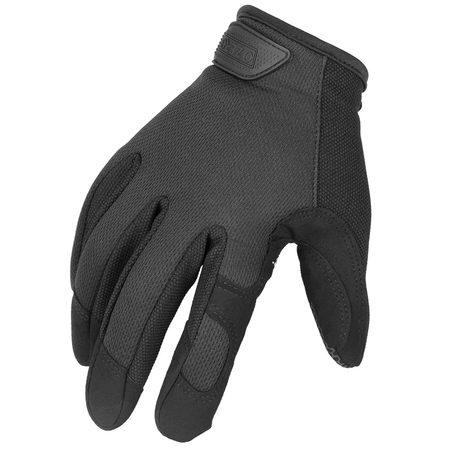 Mechanic Gloves with Touch Screen FingerTips - Improved Dexterity and Extra Grip for Men and Women (Black,Medium)