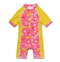 Baby Girl Bathing Suit Long Sleeve UPF 50+ Sun Protection Come with a Hats