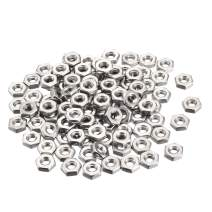 uxcell Hex Nuts, 8#-32 Coarse Thread Hexagon Nut, Stainless Steel 304, Pack of 100