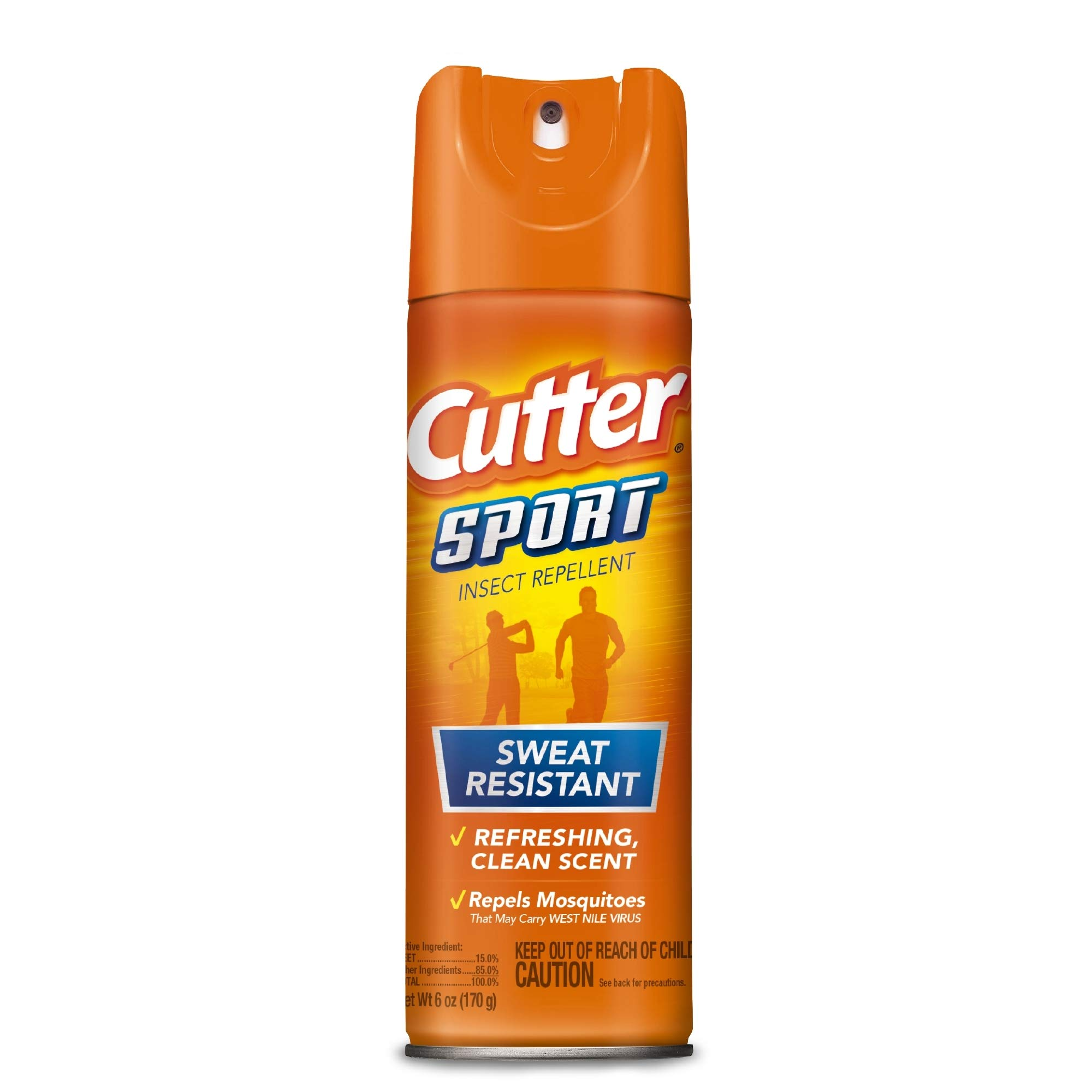 Cutter Sport Insect Repellent, Aerosol, 6-Ounce, 12-Pack