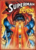 """Ata-Boy DC Comics Superman No. 218 'Burn!' 2.5"""" x 3.5"""" Magnet for Refrigerators and Lockers"""