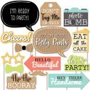 Big Dot of Happiness Put On Your Party Pants - Photo Booth Props Kit - 20 Count
