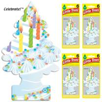 LITTLE TREES Car Air Freshener | Hanging Tree Provides Long Lasting Scent for Auto or Home | Celebrate!, 6-packs (4 count)
