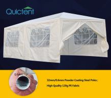 Quictent 10' X 20' Party Wedding Tent Gazebo Canopy with 6 Removable Side Walls