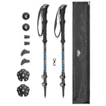 Cascade Mountain Tech Trekking Poles - Carbon Fiber Strong Adjustable Hiking or Walking Sticks - Lightweight Quick Adjust Locks