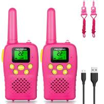 FAYOGOO Walkie Talkies for Kids, 22 Channels 2 Way Radio Toy with Backlit LCD Flashlight, Best Christmas and Birthday Gift Toys for 3-12 Year Old Girls Walkie Talkies