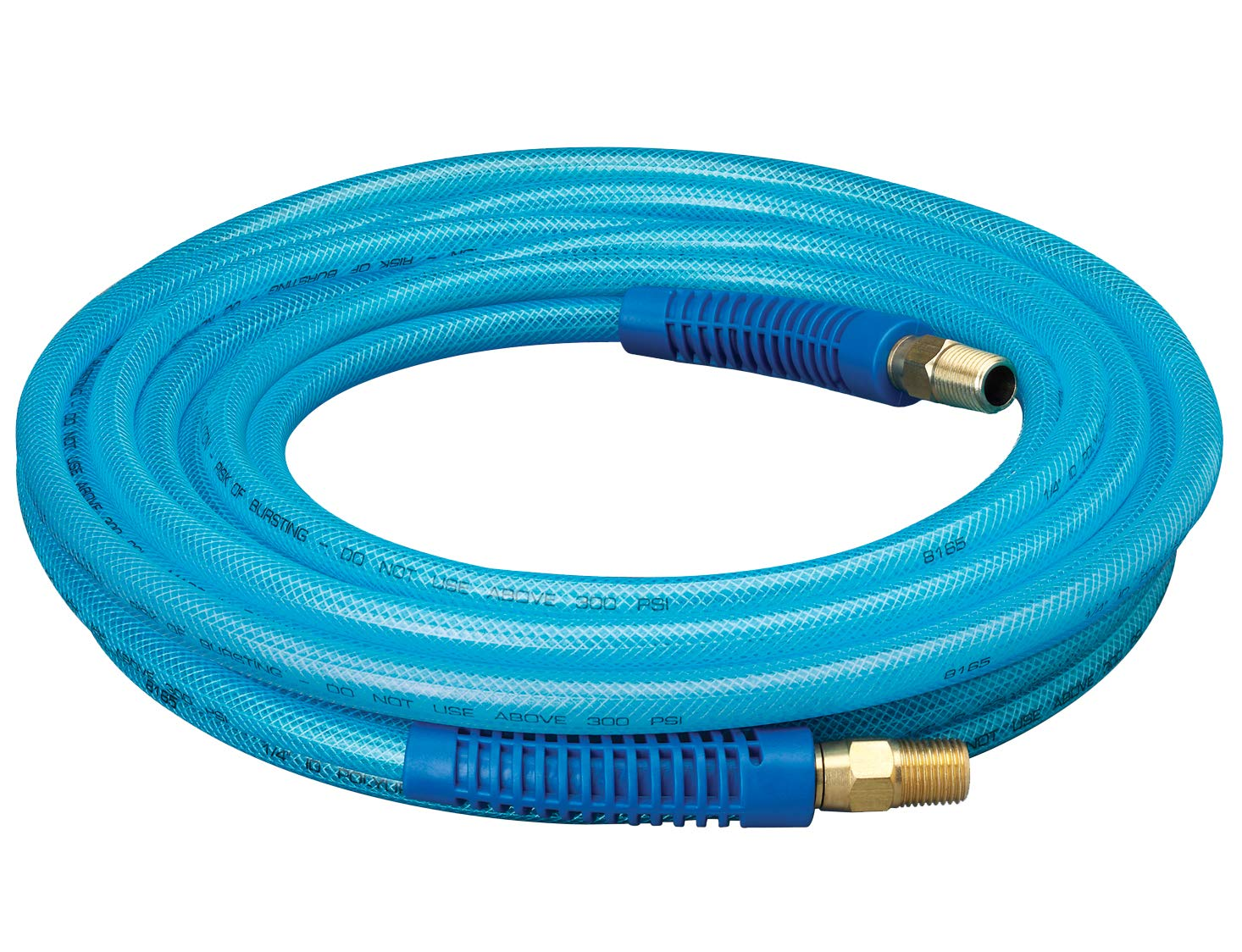 """Plews & Edelmann Amflo 12-25E Polyurethane Air Hose - Non-marring, Smooth Finish, Easy to carry, Lightweight, Cold Weather Flexible, Great Indoors or Out, 1/4"""" X 25', Blue, 25 ft"""