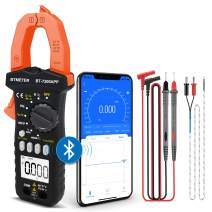 BTMETER BT-7200APP TRMS 6000 Counts Clamp Multimeter, Digital Clamp-on Ammeter for AC/DC Current Voltage Resistance Capacitor Frequency Continuity Temperature NCV