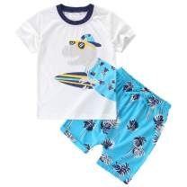 Jobakids Little Boys' Short Set Summer Outfit Play Clothing Sets Short Sleeve Cotton 2-Piece