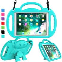 AVAWO iPad 6th Generation Kids Case, iPad 9.7 inch 2018 Case, iPad Air 2 Case, with Shoulder Strap, Shockproof Handle Stand Kids Protective Case for iPad 9.7 inch 5 & 6th Gen & iPad Air, Turquoise