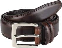 Men's Genuine Leather Belt 'ALL LEATHER' Classic Dress Casual Double Stitch 35mm