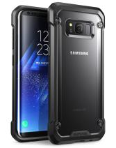 SupCase Samsung Galaxy S8 Case, Unicorn Beetle Series Premium Hybrid Protective Frost Clear Case for Galaxy S8 2017 Release, Retail Package (Frost/Black)