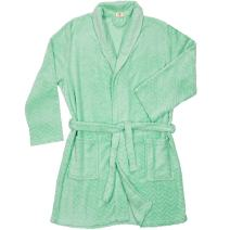 North 15 Women's Cozy Warm Plush Fleece Kimono Bathrobe & Spa Set