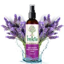TreeActiv Hair Growth Daily Nourishing Spray, Natural Leave in Conditioner, Anti Frizz, Reduce Curly Frizzy Hair, Argan Oil, Biotin, Keratin, Silk Aminos, Tea Tree (Lavender)