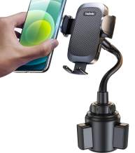 Phone Car Holder【2 in 1】Ultra Steady Cup Holder Phone Mount fit with 99% A/C Vents & Cup Easy Use cell phone holder for car SUV, Truck, RVs etc, fit for All iPhone 12/12 Pro/11/XS/8/7/Samasung S10 etc