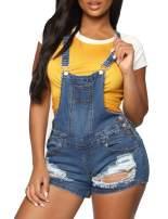 Doublju Women's Stylish Denim Pocket Overalls Hot Shorts with Plus Size