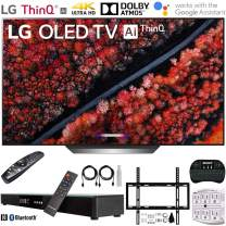 "LG OLED77C9PUB 77"" C9 4K HDR Smart OLED TV w/AI ThinQ (2019) + Deco Gear Home Theater Surround Sound 31"" Soundbar + Deco Mount Flat Wall Mount Kit + 2.4GHz Wireless Keyboard w/Touchpad + More"