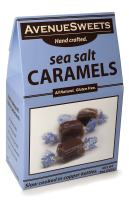 AvenueSweets - Handcrafted Individually Wrapped Soft Caramels - 8 oz Box - Sea Salt