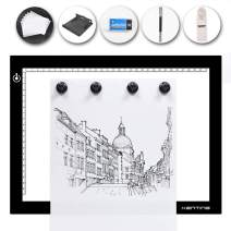 Kenting Magnetic K4M Portable LED Tracing Adjustable Light Pad Light Box Light Table USB Powered Drawing Board Tattoo Pad with Kenting Multifunction Light Box Stander