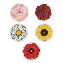 Wet-It! Swedish Dishcloth (Rose, Daisy, Poppy, Cherry Blossom, Sunflower - Set of 5)